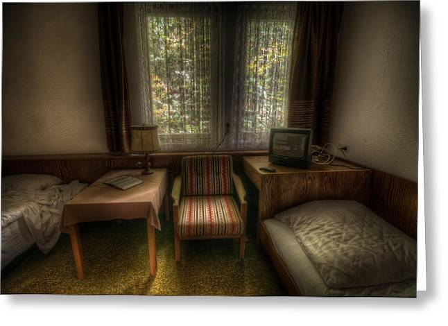 Bed For Two Greeting Card by Nathan Wright