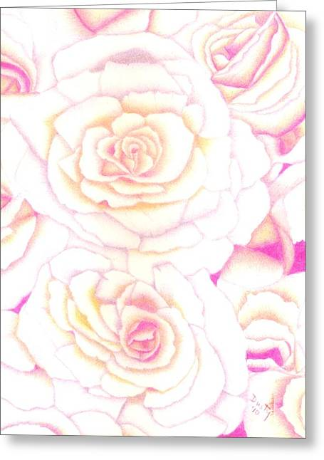 Bed Of Roses Greeting Card by Dusty Reed