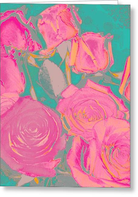 Bed Of Roses I Greeting Card by Shirley Moravec
