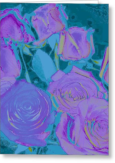 Bed Of Roses II Greeting Card by Shirley Moravec
