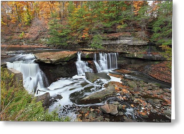 Bedford Viaduct Waterfall Greeting Card by Daniel Behm