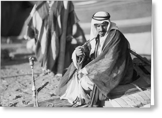 Bedouins In Jordan Greeting Card by Underwood Archives