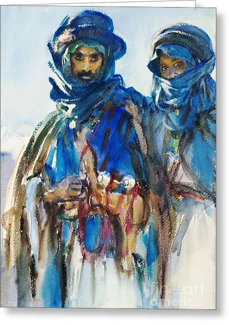 Bedouins Greeting Card by Roberto Prusso