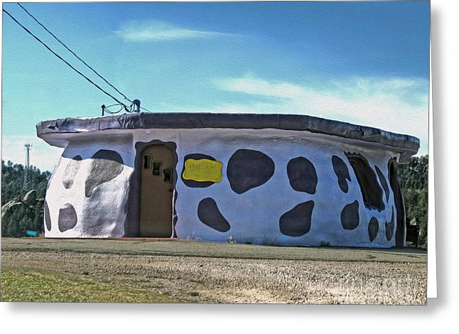 Bedrock City - 01 Greeting Card by Gregory Dyer