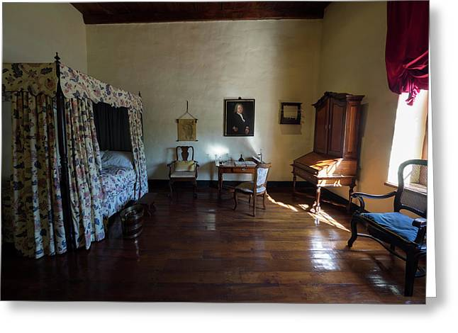 Bedroom Of Blettermanhuis, Stellenbosch Greeting Card