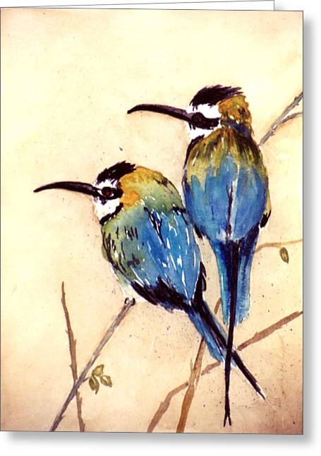 Bee Catchers Greeting Card