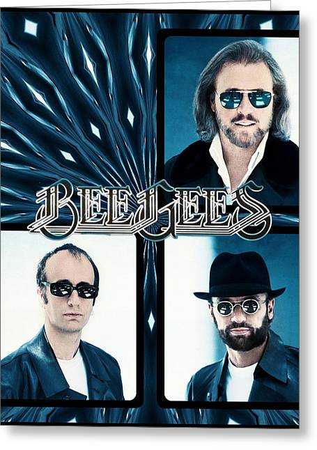 Bee Gees I Greeting Card by Sylvia Thornton