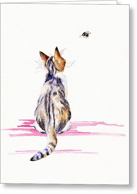 Bee-mused Greeting Card