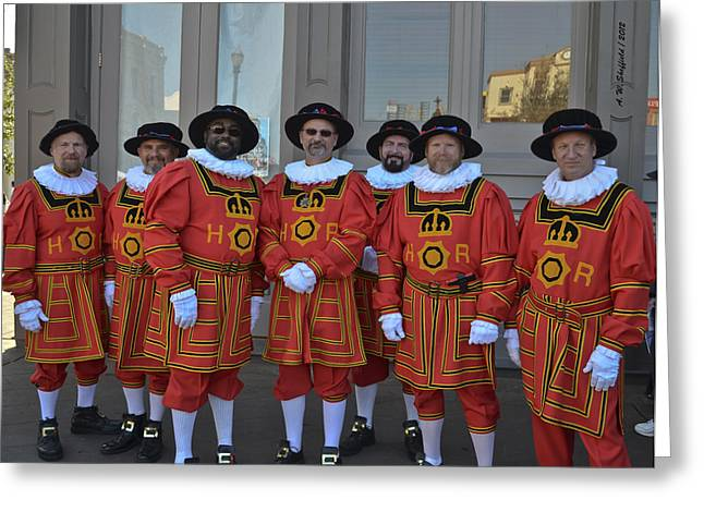 Beefeaters Greeting Card