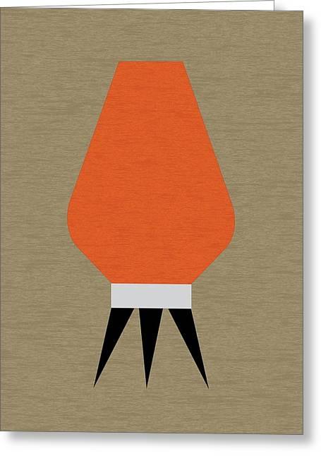 Beehive Lamp Orange Greeting Card
