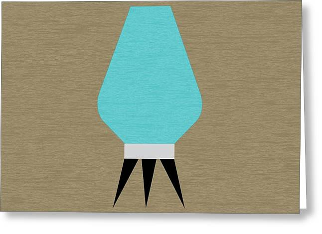 Beehive Turquoise Lamp Greeting Card
