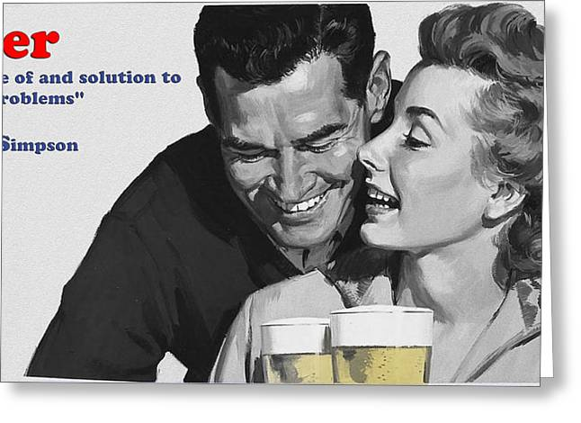 Beer Greeting Card by Bill Cannon
