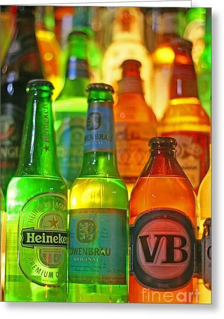 Beer Bottles Greeting Card