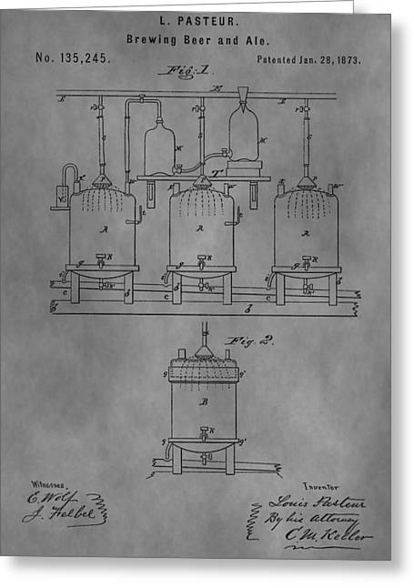 Beer Brewery Apparatus Patent Greeting Card
