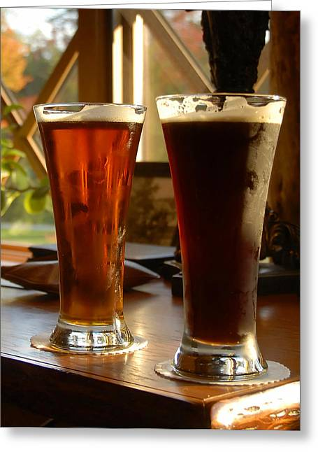 Two Craft Beers Greeting Card by David Lee Thompson