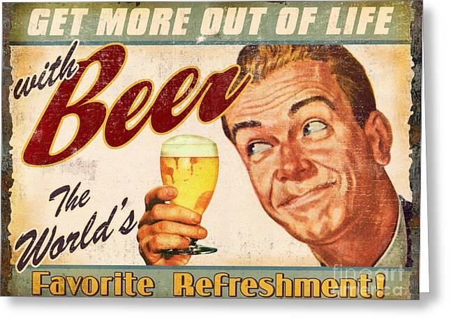 Beer Greeting Card by JQ Licensing