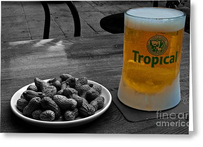 Beer Of The Canaries Greeting Card by Rob Hawkins