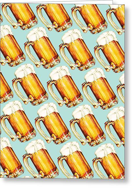 Beer Pattern Greeting Card