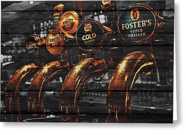 Beer Taps Greeting Card