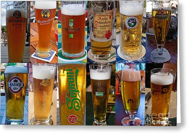 Thomas Marchessault Greeting Cards - Beers of Europe Greeting Card by Thomas Marchessault