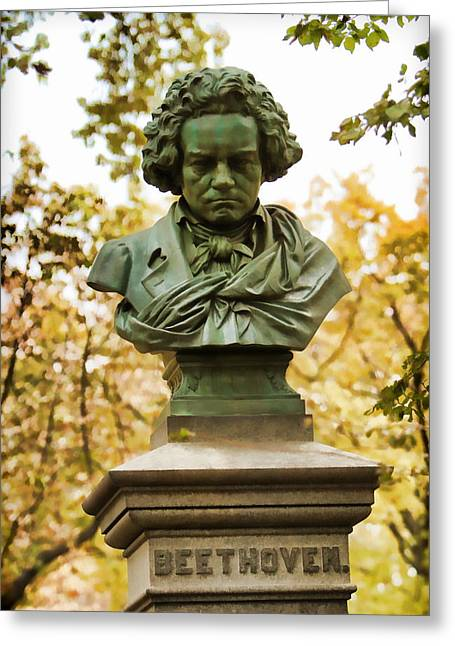Beethoven In Central Park Greeting Card