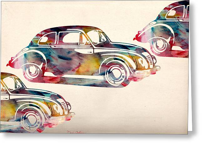Beetle Car Greeting Card by Mark Ashkenazi