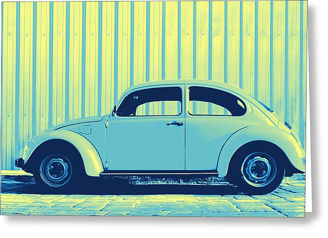 Beetle Pop Sky Greeting Card by Laura Fasulo