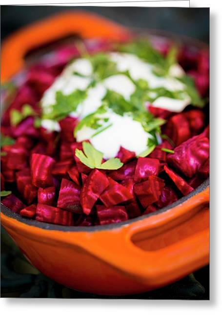 Beetroot With A Garnish Greeting Card