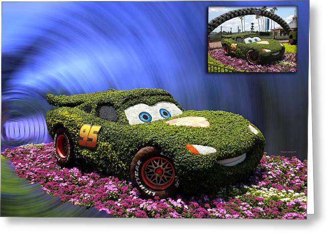 Before And After Sample Art 29 Floral Lightning Mcqueen Greeting Card by Thomas Woolworth