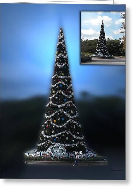 Before And After Sample Art 39 Hollywood Xmas Tree Greeting Card