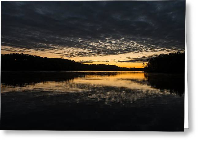 Before Sunrise At The Lake Greeting Card
