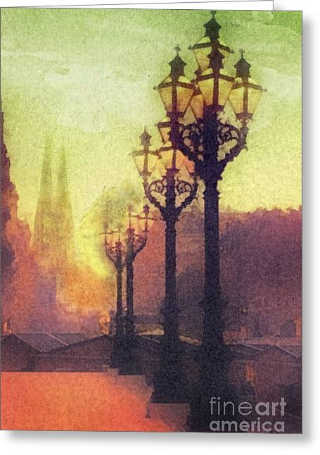 Before Sunrise Greeting Card by Mo T