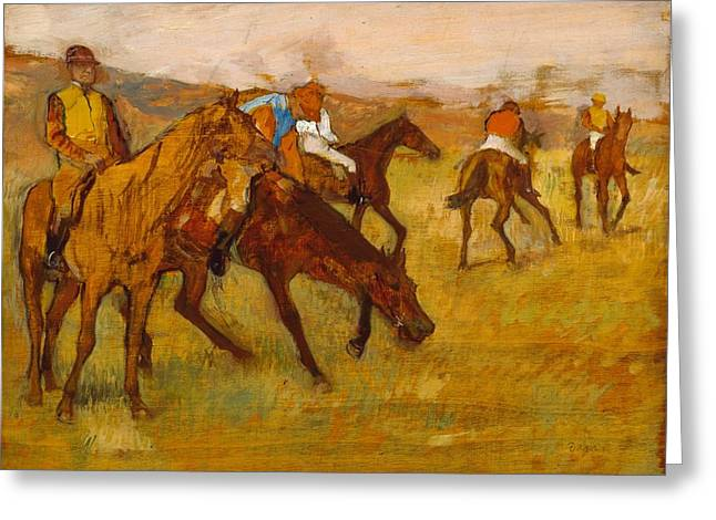 Before The Race Greeting Card by Edgar Degas