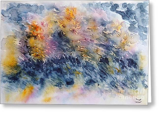 Before The Rain  Greeting Card by Zaira Dzhaubaeva