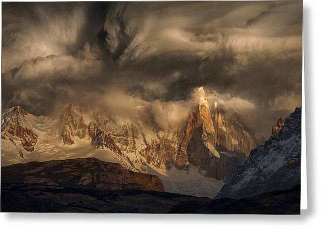 Before The Storm Covers The Mountains Spikes Greeting Card