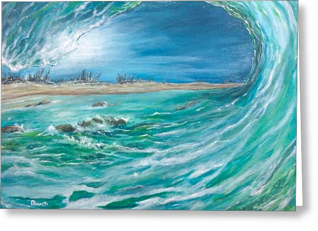 Greeting Card featuring the painting Before The Storm by Dawn Harrell