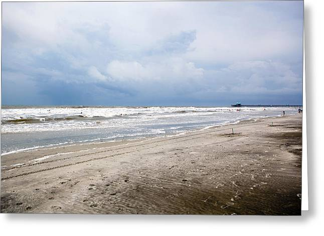 Greeting Card featuring the photograph Before The Storm by Sennie Pierson