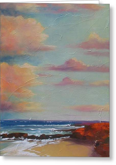 Before The Sun Sets Greeting Card by Laura Lee Zanghetti
