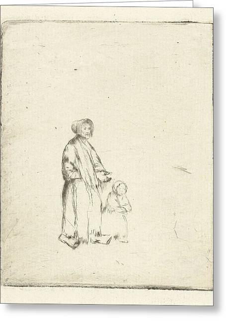 Beggar With Child, Louis Bernard Coclers Greeting Card