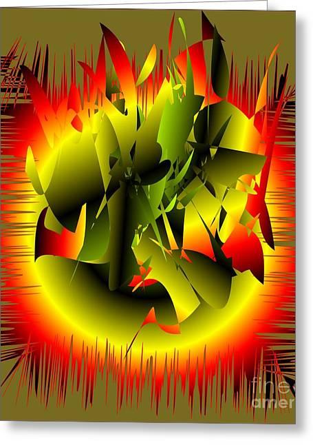 Greeting Card featuring the digital art Beginning by Iris Gelbart