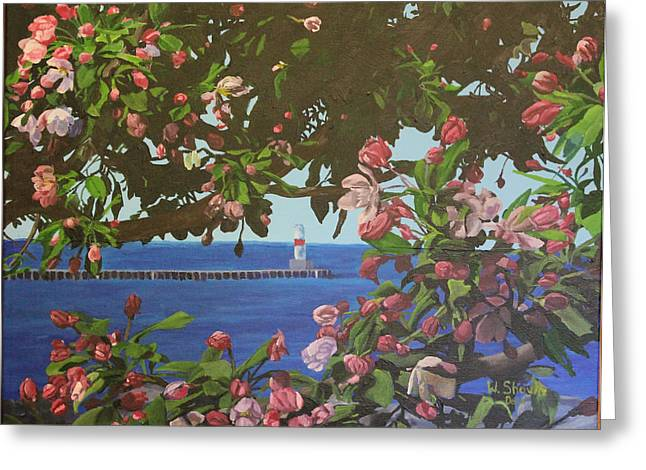 Beginnings Of Summer At The Waterfront Greeting Card by Wendy Shoults