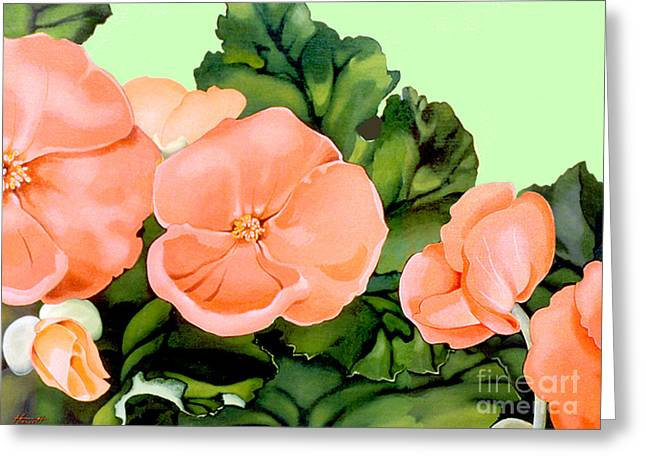 Begonias Greeting Card by Patricia Howitt