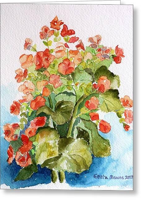 Begonias Still Life Greeting Card