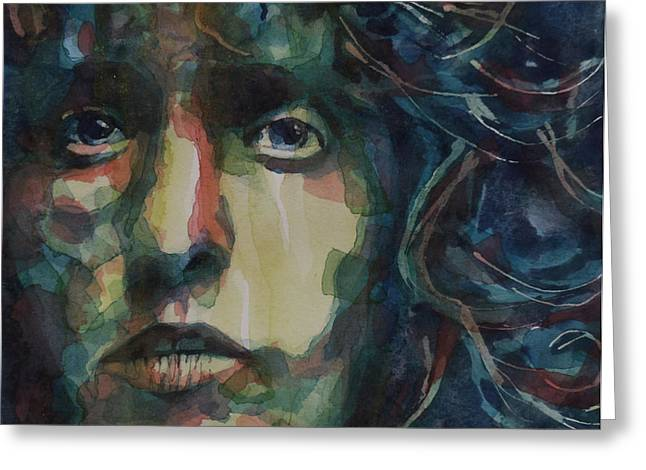 Behind Blue Eyes Greeting Card by Paul Lovering