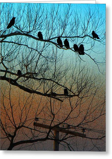 Behind Glass Greeting Card by Gothicrow Images