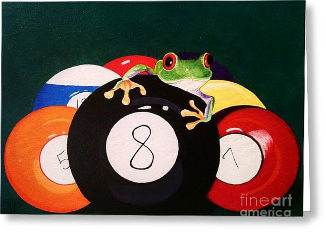 Behind The 8 Ball Greeting Card