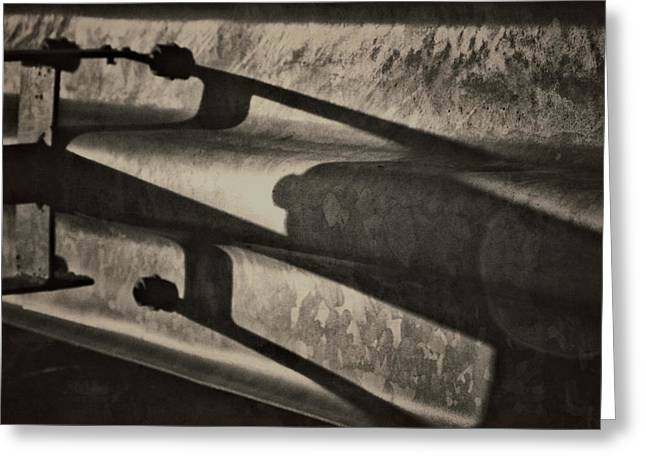 Behind The Barrier Greeting Card by Odd Jeppesen