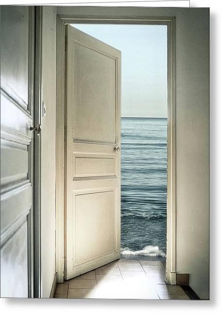 Behind The Door Greeting Card