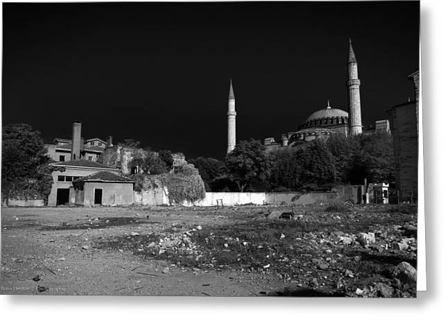 Greeting Card featuring the photograph Behind The Hagia Sophia by Ross Henton