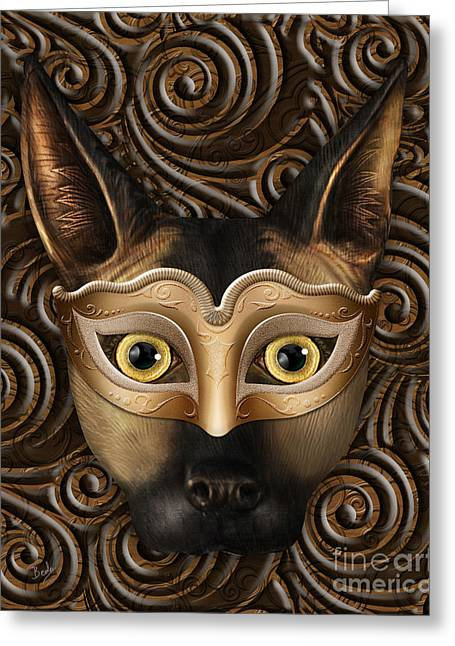 Behind The Mask Greeting Card by Bedros Awak